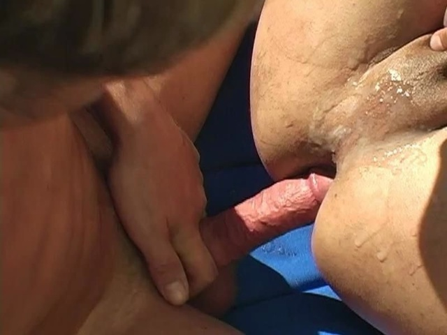 Cum covered ass fucked raw