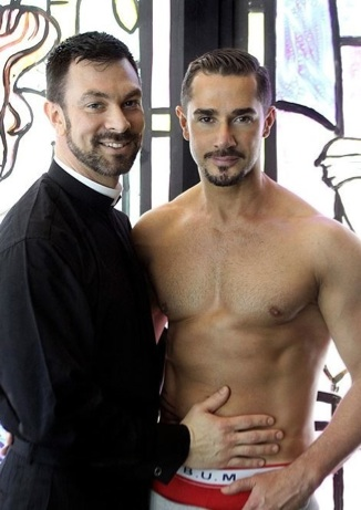 Dillon Buck as a Priest and Dean Monroe in his underwear