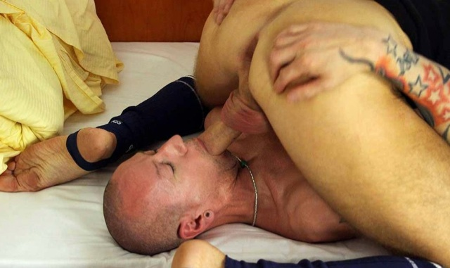 Chris Tee gets a mouth full of David's cock