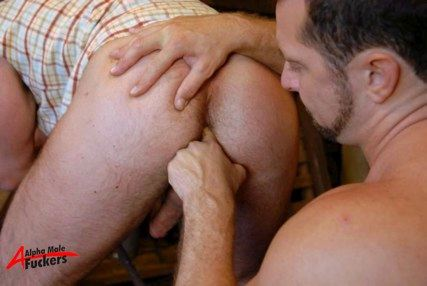 Manly ass getting fingered - gives the guy an erection