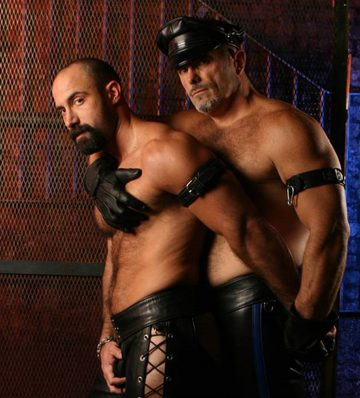 A leather daddy and his hot boy