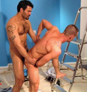 Sagatarian Jean Franco puts his arrow up a hot muscle bottom