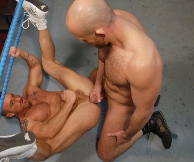 Marco shoots his load on furry jock hole