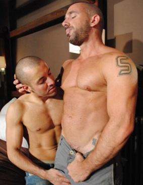 Zach Ellias and Jorge Ballantinos shirtless