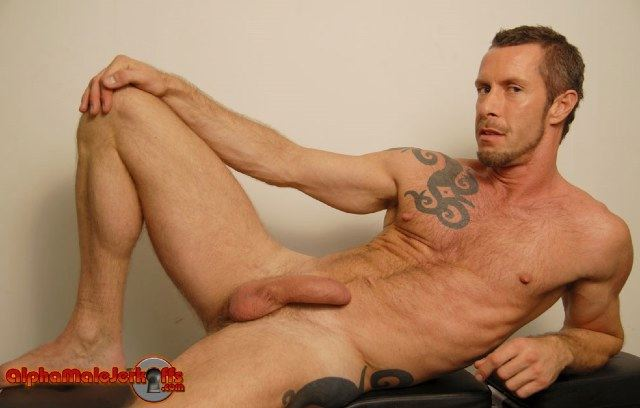 Lean hairy tattooed stud with a bear - Rocco Banks