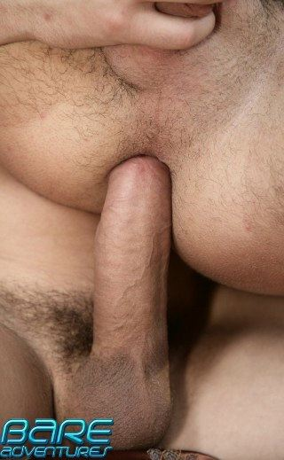 Rock hard cock fucking a shaved hole bareback