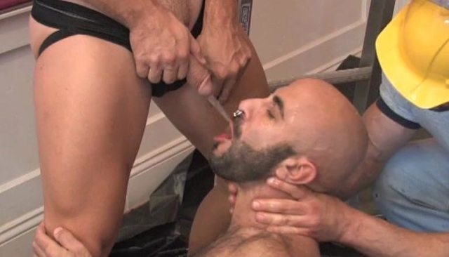Boyhous drinking piss from a buddy's fat dick