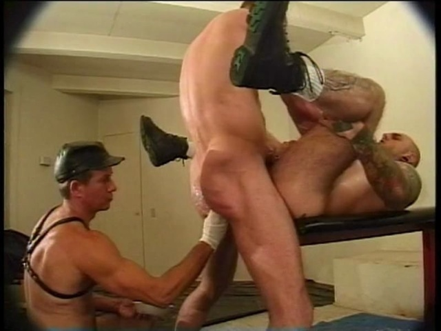 Bud getting his hole fucked while the top gets his hole fisted