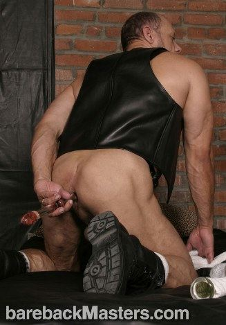 Bo knight pumps a colorful dildo up his tight ass.