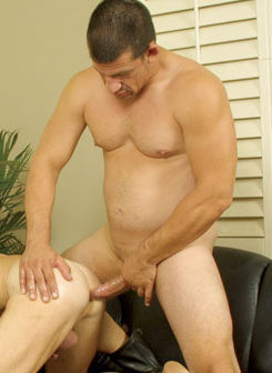 Joe teases Scott\'s bare hole with his bare cock