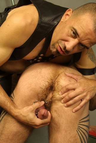 Austion Black plays with buds cock and hairy ass