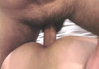 Hairy older guy pounds the smooth ass of young guy bareback