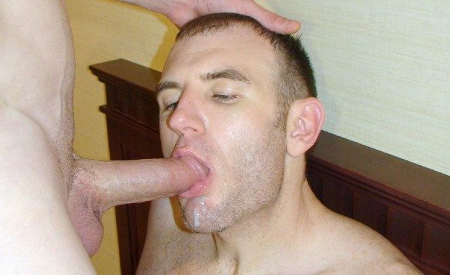 Marque Maddox sucking on a thick dick after getting cum all over his mouth and face