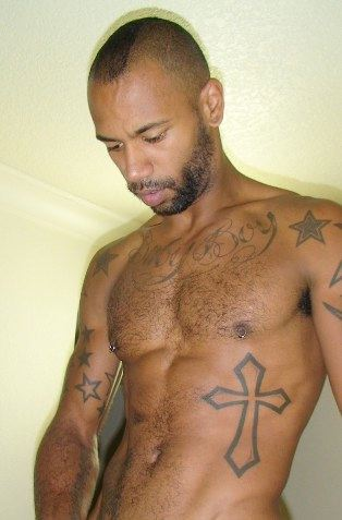 Ripped tatted Black top Kory Kong