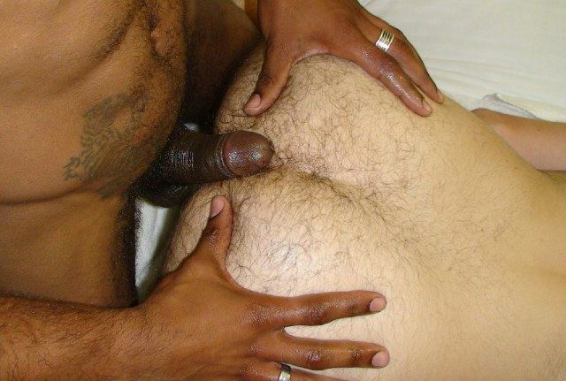 Hairy white ass eager for raw dick