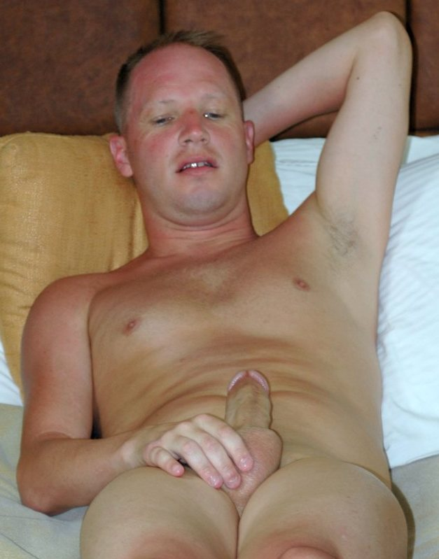 Tim Tyler stroking his cock