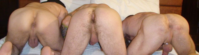 Kasey, Greg and Peter show off their holes