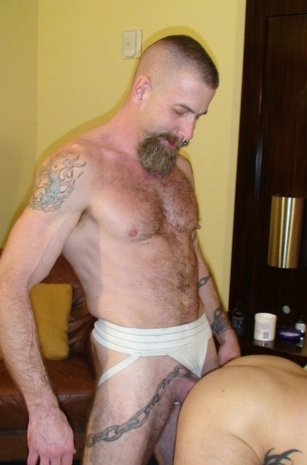 Inked hairy Jake Wetmore raw fucking Sage's hot ass
