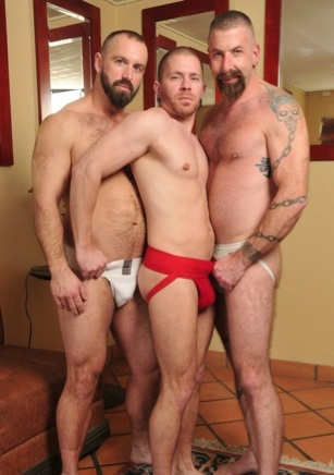 Troy Webb. Butch Bloom, and Jake Wetmore in jocks