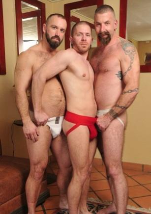 Troy Webb. Butch Bloom, and Jake Wetmore in jocks