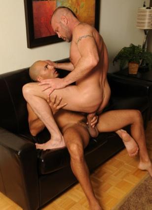 Chad slides down on Antonio's big raw dick
