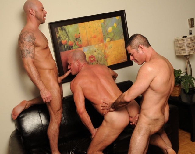 Nick ready to force hsi raw dick into Jake's beefy ass