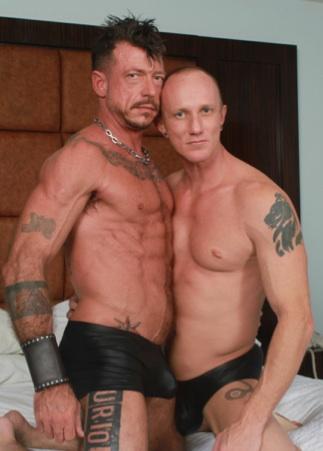 Ripped Ray Dalton and Mason Garet shirtless