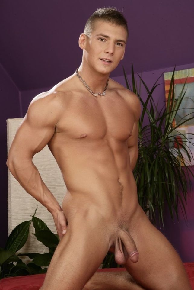 Smooth twink jock Tom Smith shows off his low hangers