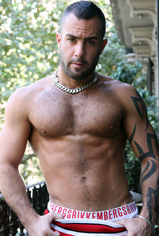 Furry muscle boy with his shirt off