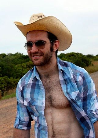 Hot muscled cowboy