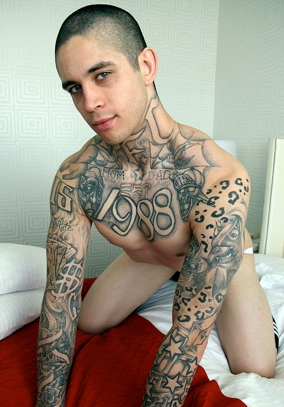 Hot young inked skater Anthony Blaize