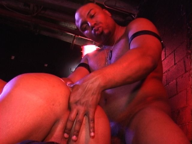 Beefy guy opens up a tight hole