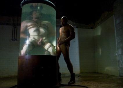 Dante underwater, while CJ Madison strokes his hard cock