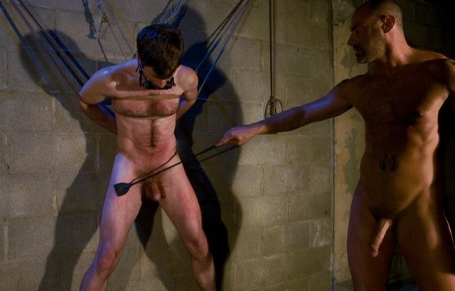 Tied up Dante is tortured by CJ Madison
