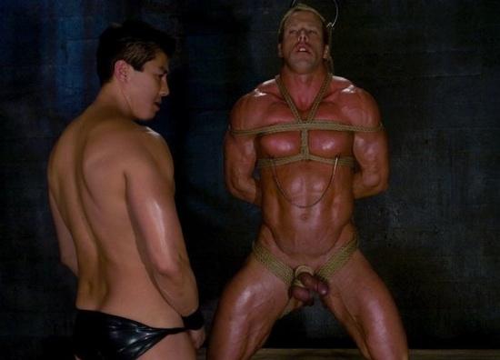 solo stud pleasing his erect rod enjoy masturbating