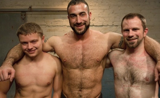 Micha Andrews, Spencer Reed and Dante shirtless