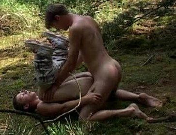Gigi Figi legs up in the forest getting fucked by John Hoover
