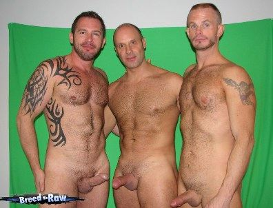 Maxime Fuuq, Jack Manhole and Thomas Steel pose naked