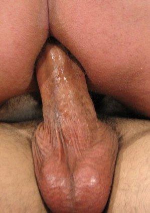 Hard cock fucking a ass bareback