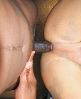 Smooth Lat in ass fucked bareback by raw Black cock