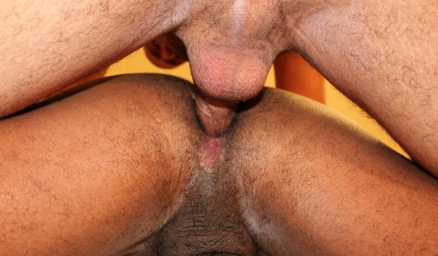 Sebastian's bare cock pounding Kamrun's hole