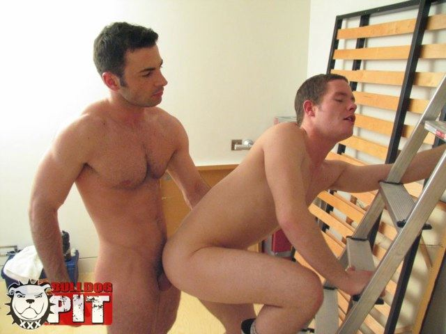 Hairy tan stud pounds his bitch bottoms hole hard and rough