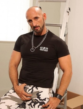 Hot muscle daddy holding his bulge