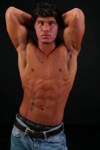 Ripped young jock shirtless