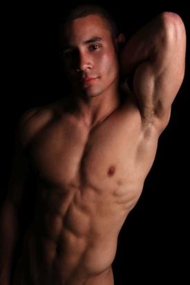 Smooth young college jock shirtless