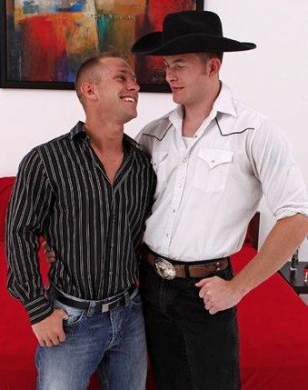 Cowboy Tex and jock Tristan before they fuck
