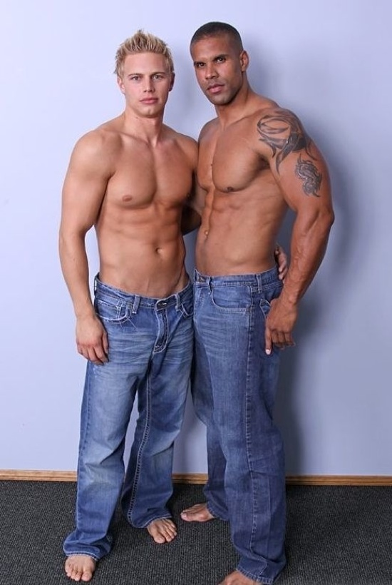 Brady Jensen and Robert Axel shirtless