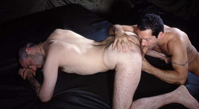 Ron Iron on his knees geting his cock sucked
