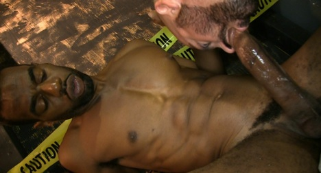 Alley gay blowjob and ass fucking 9
