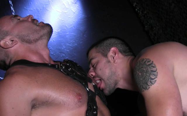 Dominic teases Jesse's tender nipples